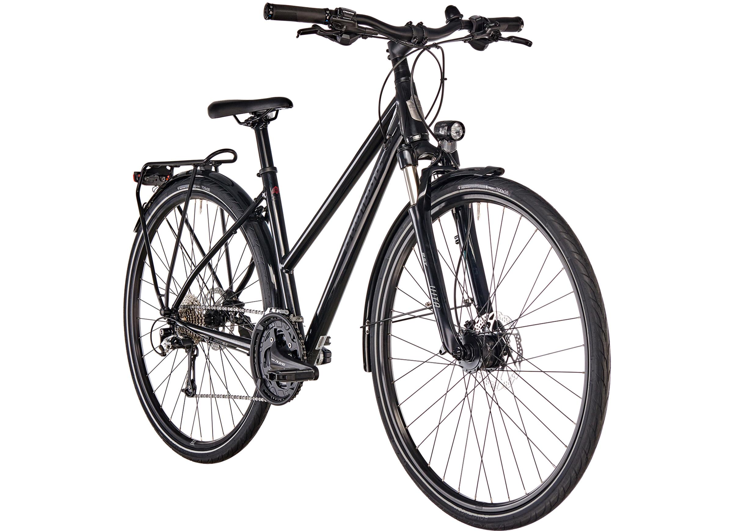 diamant elan sport bicicletta da trekking donna nero su. Black Bedroom Furniture Sets. Home Design Ideas